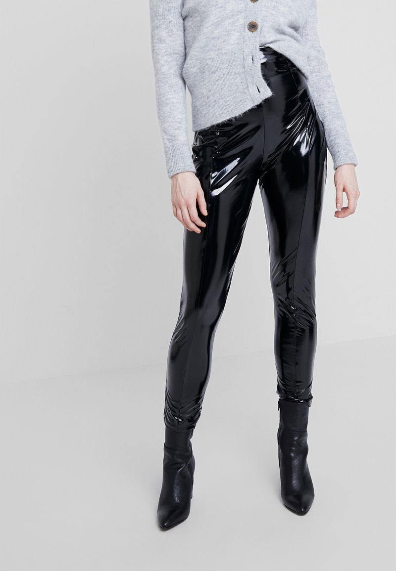 Nly by Nelly - SHAPE HIGH PANT - Pantaloni - black