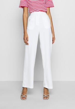 MY FAVOURITE PANTS - Kangashousut - white