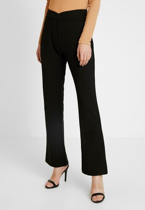 WRAP WAIST PANTS - Pantalon de survêtement - black