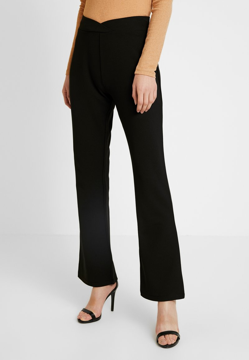 Nly by Nelly - WRAP WAIST PANTS - Spodnie treningowe - black