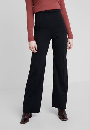 SHAPE HIGH WIDE PANT - Trousers - black