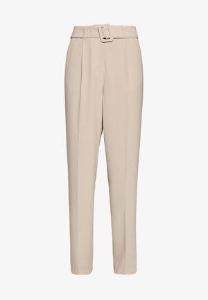 BELTED SUIT PANTS - Broek - beige