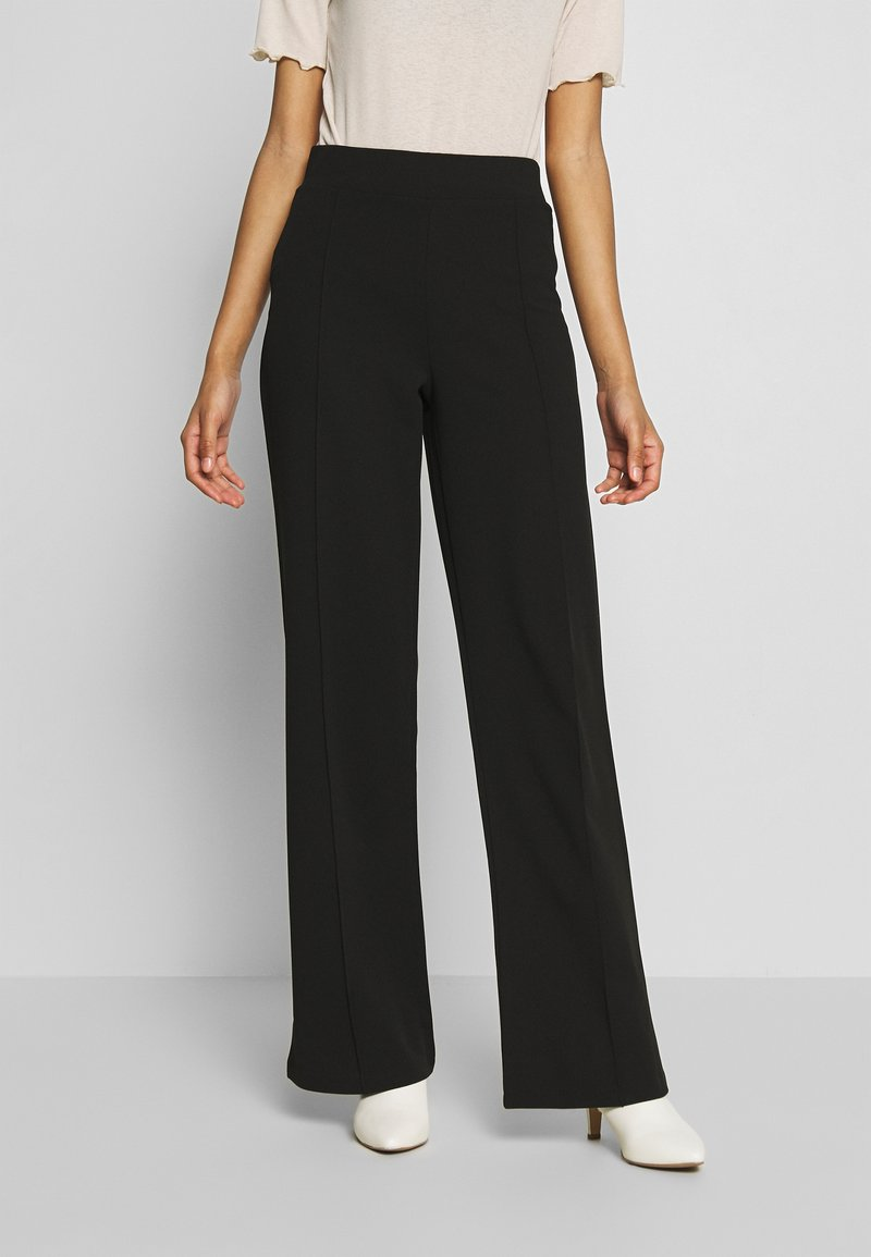 Nly by Nelly - DETAILED WIDE PANTS - Pantaloni - black