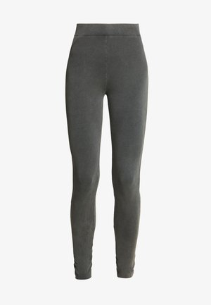 WASHED OUT LEGGINGS - Pantalones - off black
