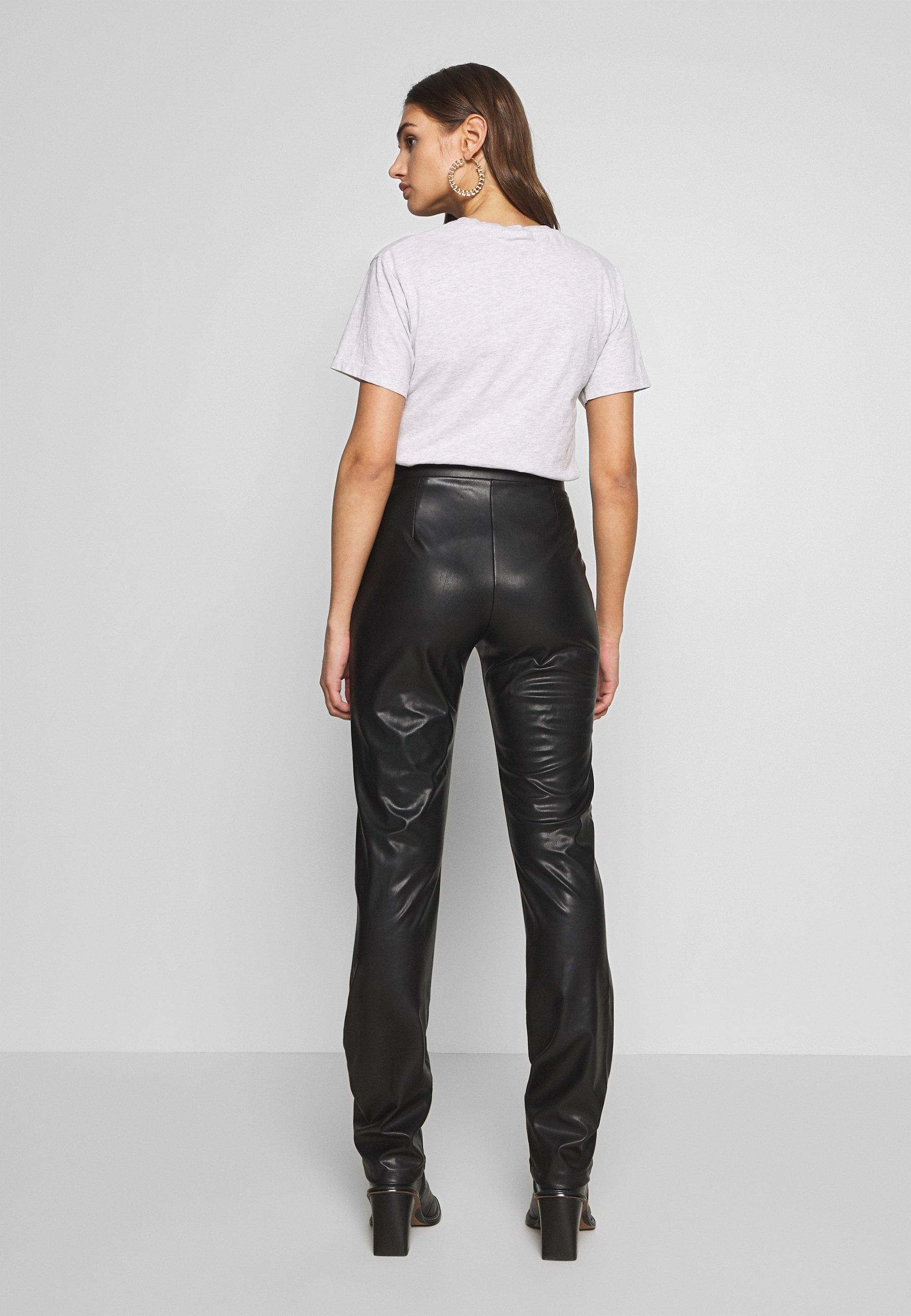 Nly by Nelly TAILORED PANTS - Spodnie materiałowe - black
