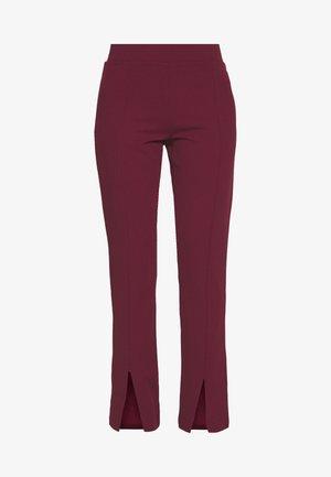 FRONT SLIT PANTS - Broek - burgundy