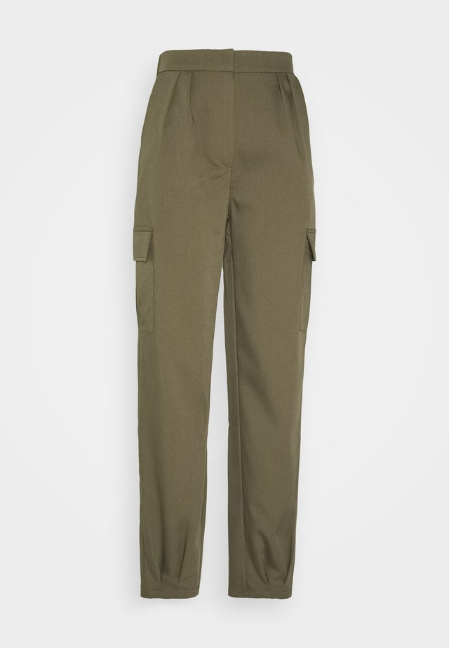 RELAXED PANTS - Trousers - olive