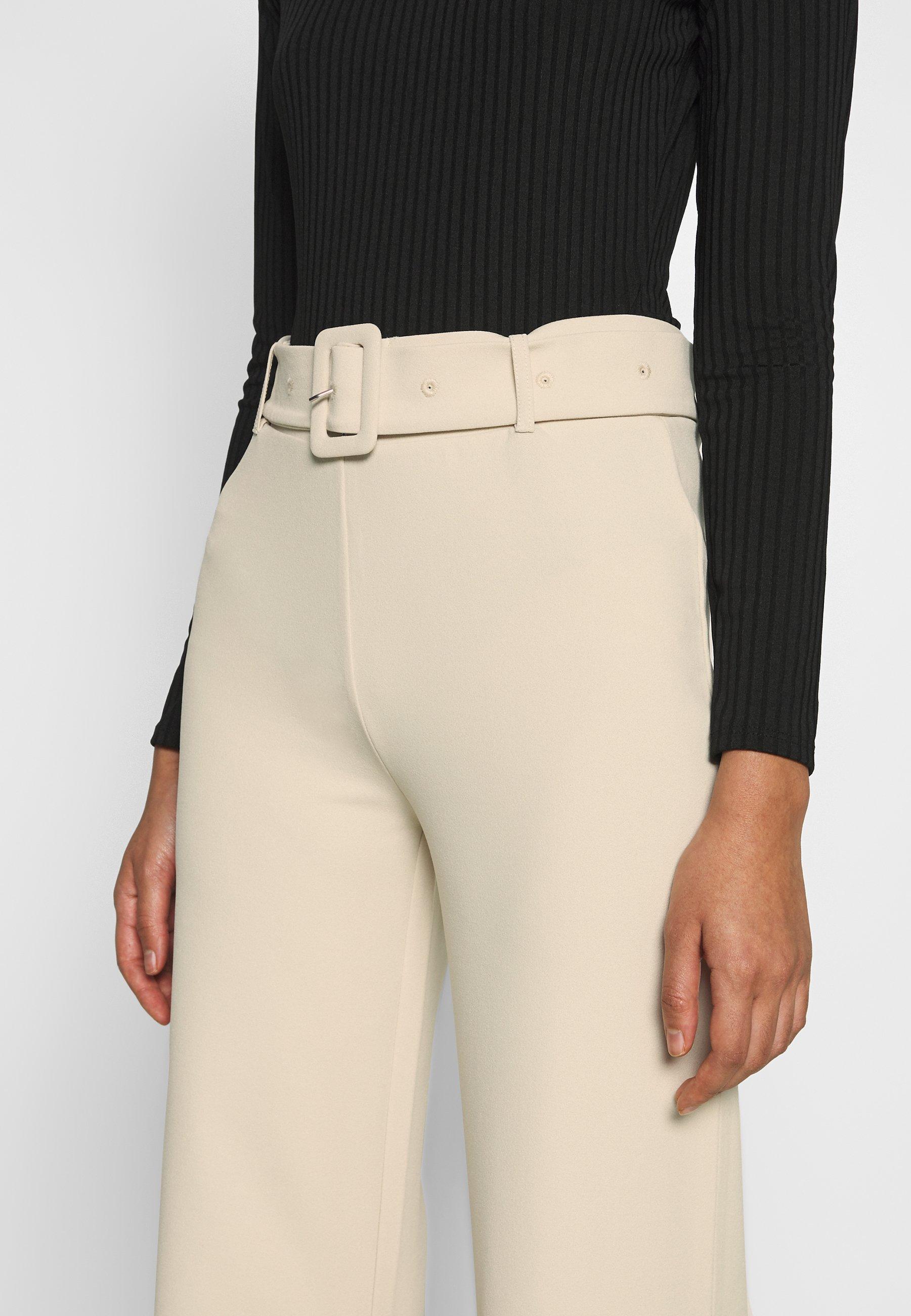 Nly by Nelly TAILORED BELT PANTS - Spodnie materiałowe - beige