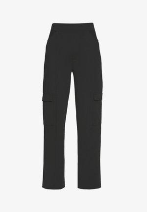 CUT OUT PANTS - Bukse - black