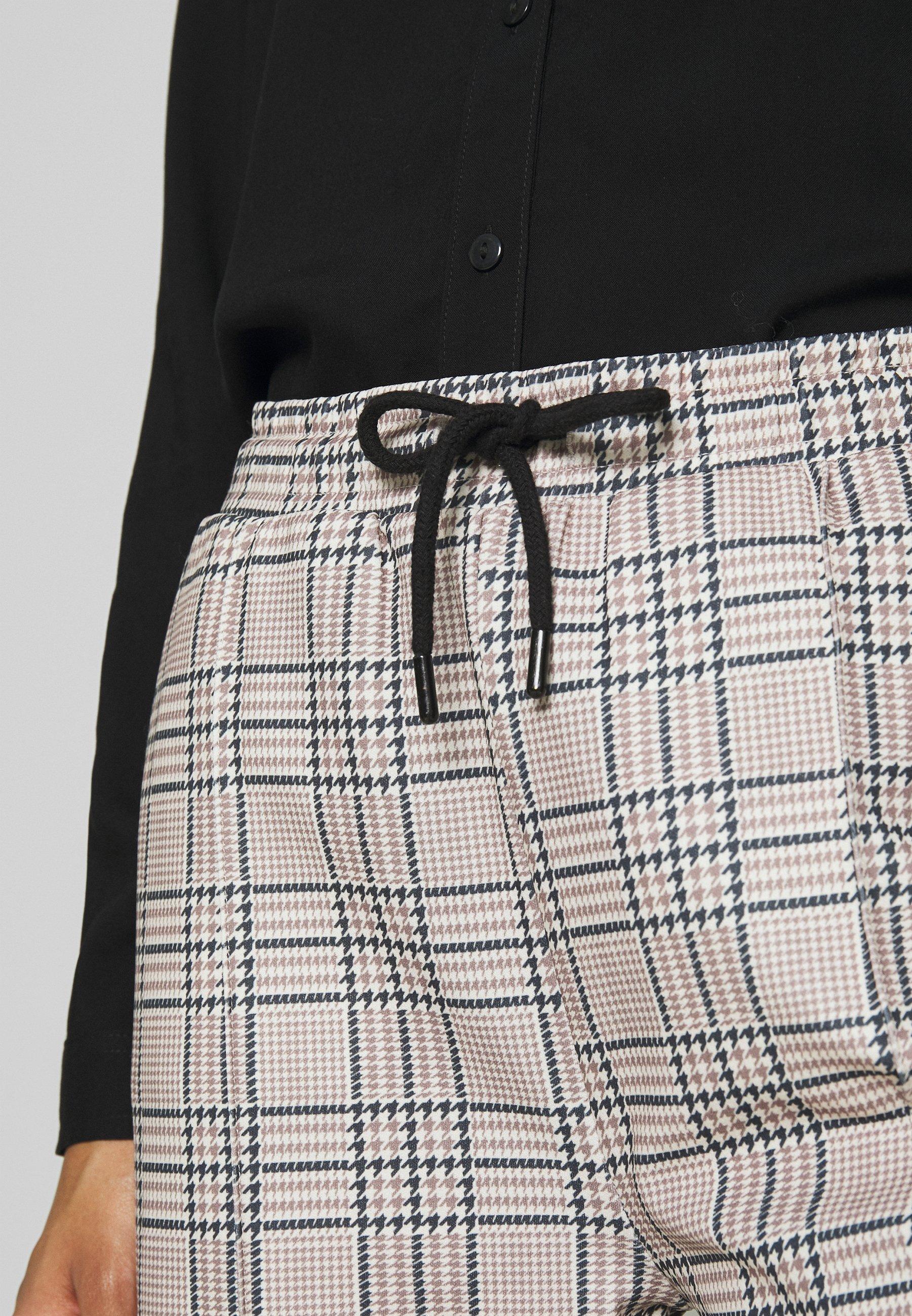 Nly by Nelly CHECK IT PANTS - Spodnie materiałowe - tan