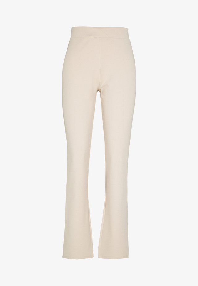WRAP WAIST PANTS - Trousers - beige