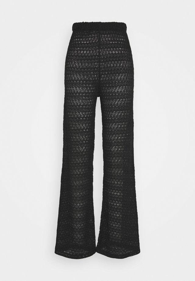 BREATHTAKING WIDE PANTS - Pantalon classique - black