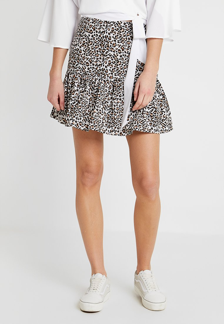 Nly by Nelly - MINI SKIRT - A-Linien-Rock - brown