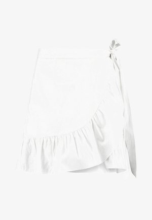 WRAPPED FRILL SKIRT - Wickelrock - white