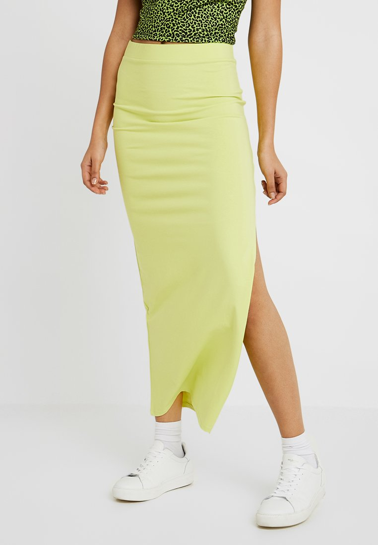 Nly by Nelly - TAKE A CHANCE SLIT SKIRT - Gonna lunga - daquiri green