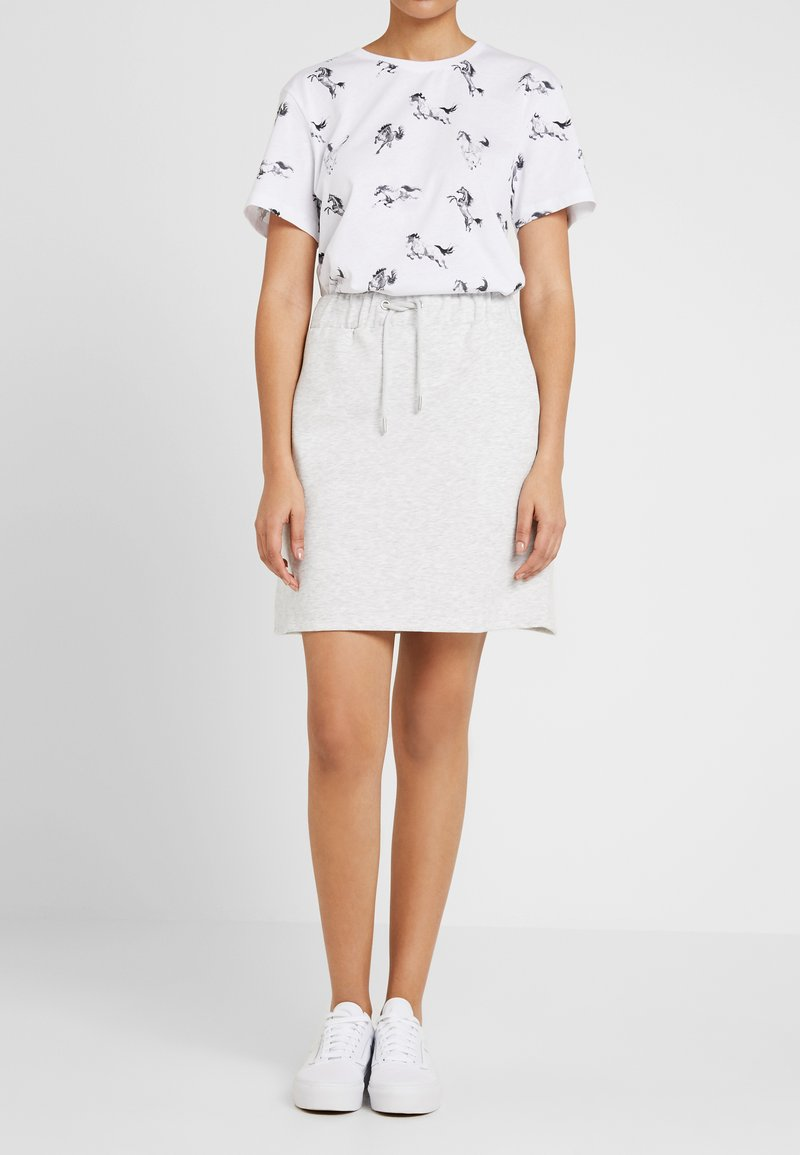 Nly by Nelly - COZY SKIRT - A-line skirt - greymélange