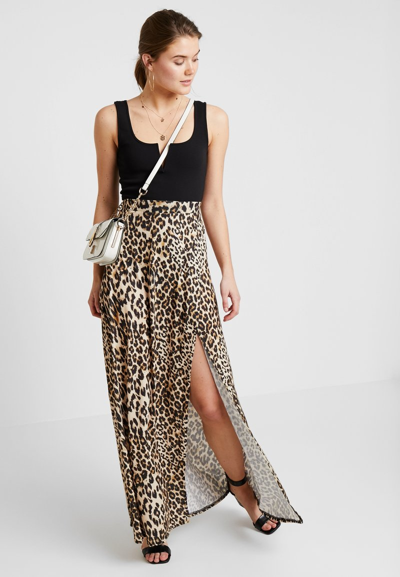 Nly by Nelly - PRINTED SKIRT - Maxirock - brown