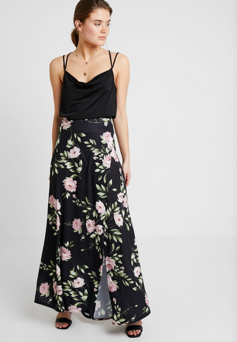 Nly by Nelly - PRINTED SKIRT - Falda larga - black