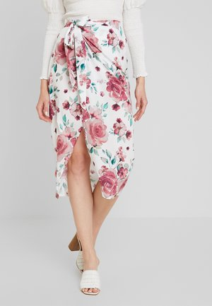 HIGH SLIT WRAP SKIRT - Jupe portefeuille - multi-coloured