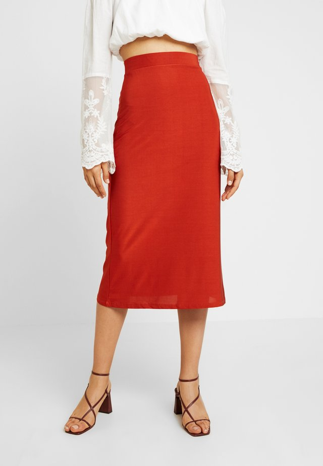 ON POINT SKIRT - Pencil skirt - rust
