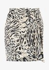 Nly by Nelly - DRAPY PRINT SKIRT - A-Linien-Rock - beige/black