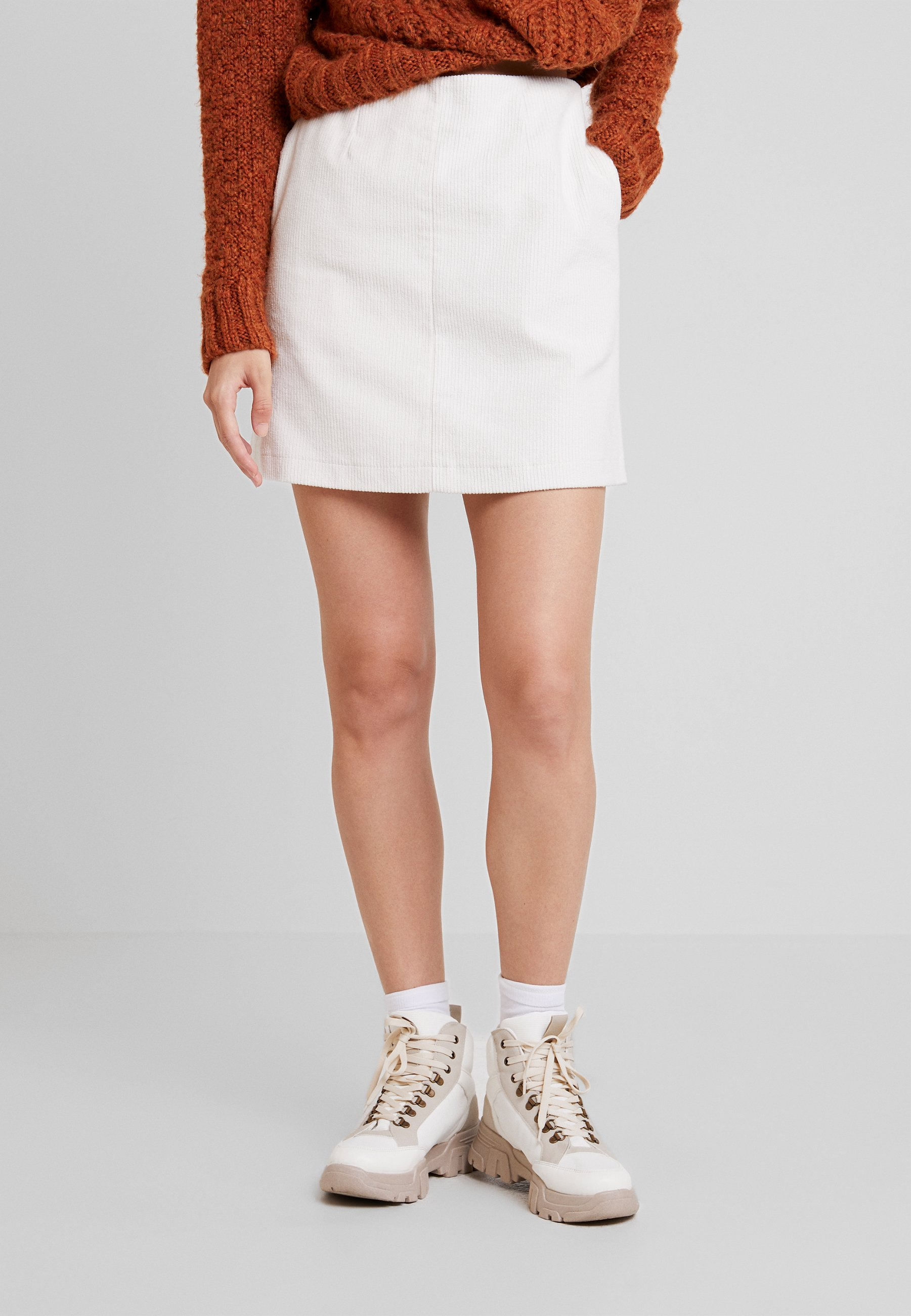 Nly by Nelly EASY SKIRT - Minigonna offwhite