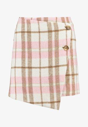 WRAP FRONT SKIRT - Minijupe - pink