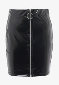 Nly by Nelly - ZIP SKIRT - Mini skirt - black - 4