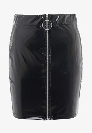 ZIP SKIRT - Mini skirt - black