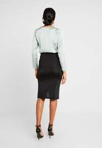 Nly by Nelly - DRAWSTRING SKIRT - Pencil skirt - black - 2
