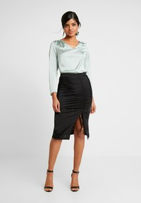 Nly by Nelly - DRAWSTRING SKIRT - Pencil skirt - black - 1
