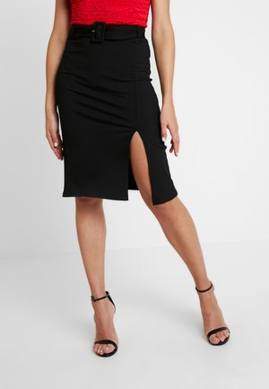 BELT SKIRT - Falda de tubo - black