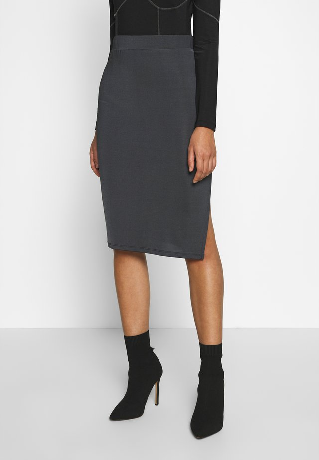 SPORT CUT SKIRT - Pencil skirt - gray