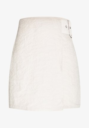 BELTED MINI SKIRT - A-line skirt - beige