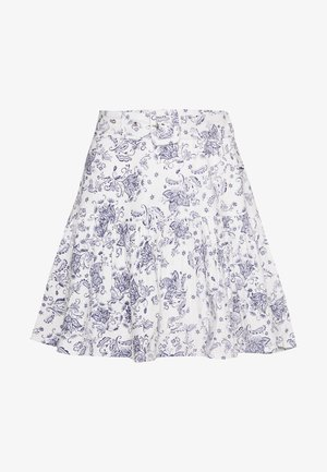 TWO TO TANGO SKIRT - Falda acampanada - white/blue