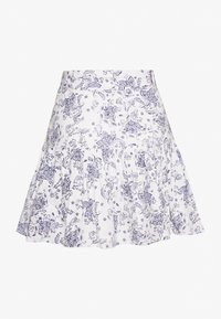Nly by Nelly - TWO TO TANGO SKIRT - A-line skirt - white/blue - 1