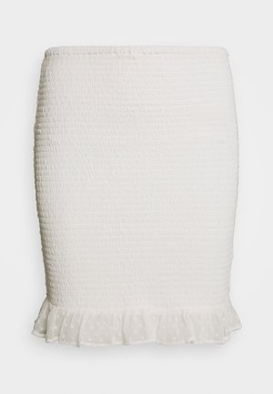 MINI DOBBY SKIRT - A-line skjørt - white