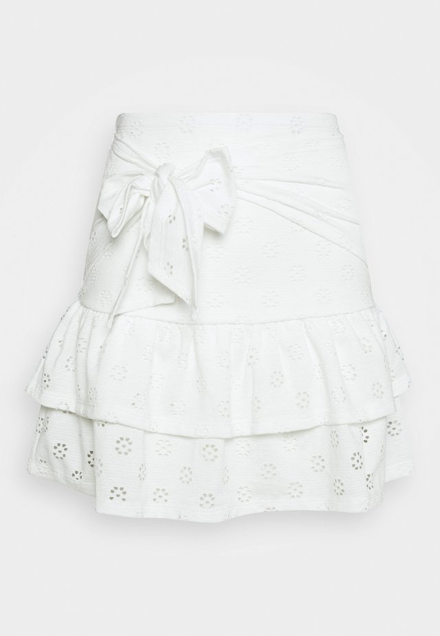 FLIRTY FRILL SKIRT - Mini skirt - white