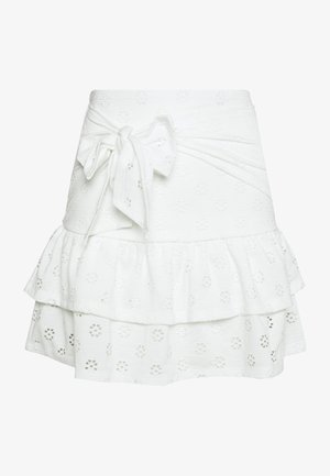 FLIRTY FRILL SKIRT - Minisukně - white