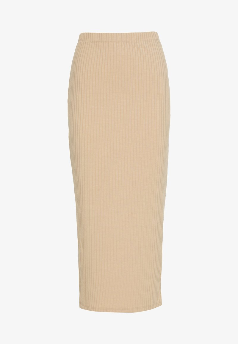 Nly by Nelly - MIDI SLIT SKIRT - Jupe crayon - beige
