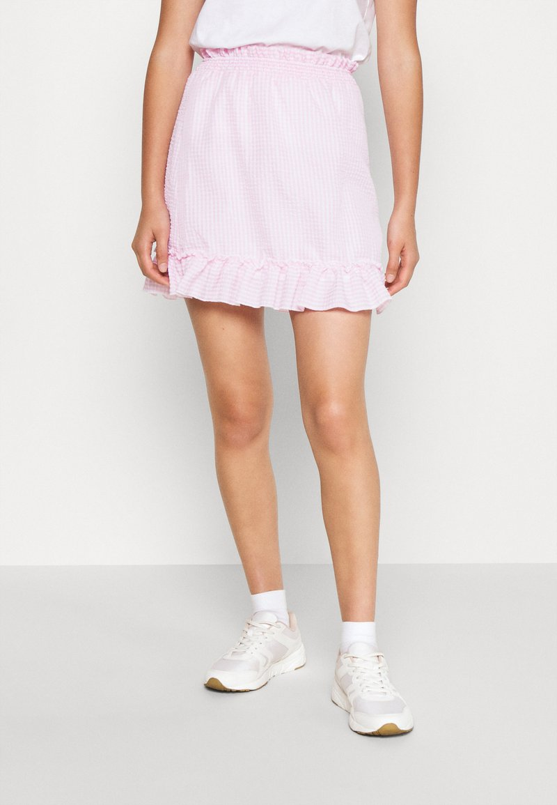Nly by Nelly - SWEET STRUCTURE SKIRT - A-linjainen hame - pink
