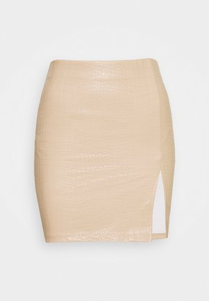 STRUCTURE MINI SKIRT - Pencil skirt - beige