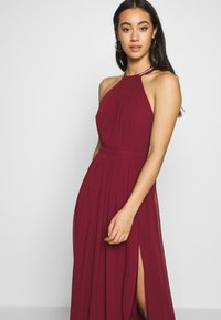 Nly by Nelly - HALTERNECK BEADED GOWN - Abito da sera - burgundy - 3