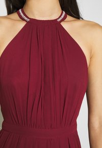 Nly by Nelly - HALTERNECK BEADED GOWN - Abito da sera - burgundy - 5