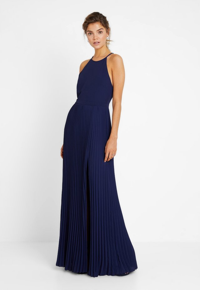PLEATED GOWN - Occasion wear - navy
