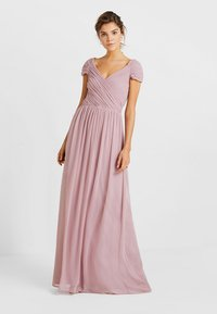 Nly by Nelly - CAP SLEEVE MAXI GOWN - Abito da sera - dark rose - 2