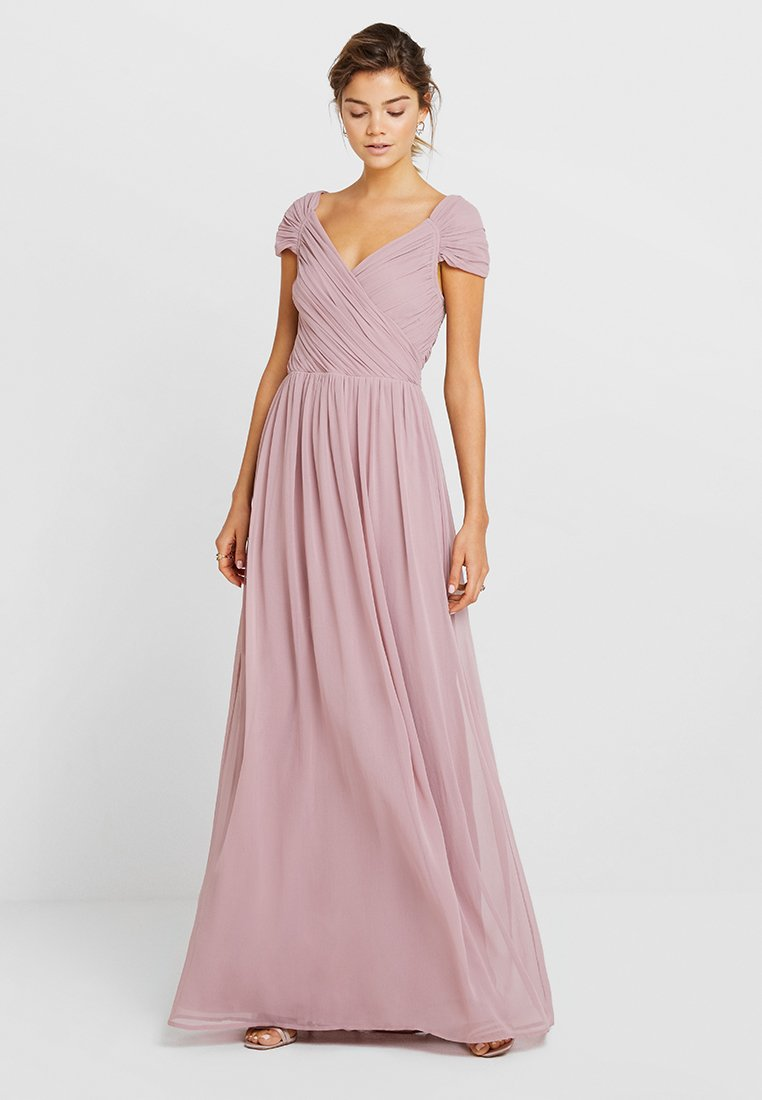 Nly by Nelly - CAP SLEEVE MAXI GOWN - Abito da sera - dark rose