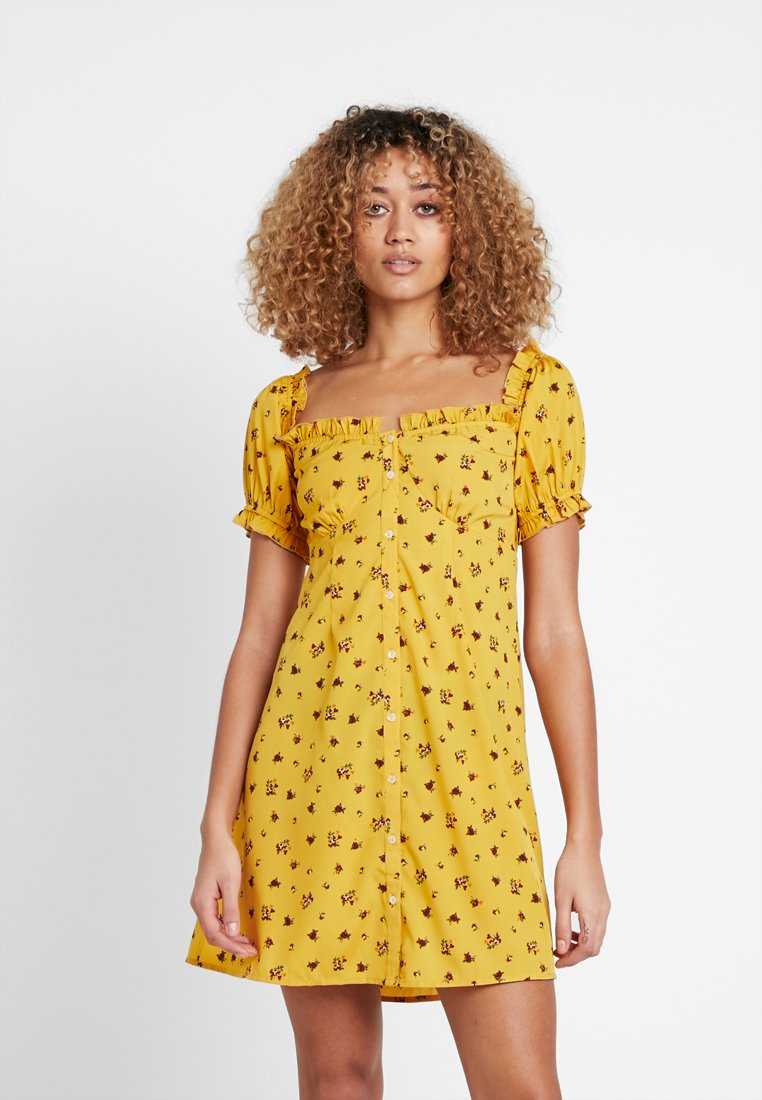 Nly by Nelly - SWEET BUTTON DRESS - Skjortekjole - yellow