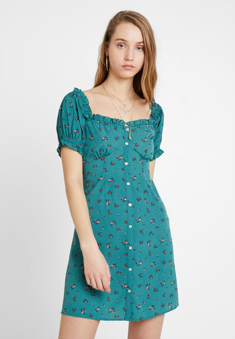 Nly by Nelly - SWEET BUTTON DRESS - Shirt dress - green