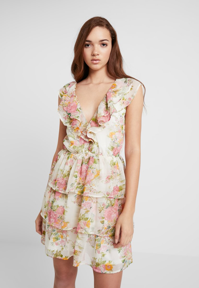 Nly by Nelly - SHEER FRILL DRESS - Kjole - multi-coloured